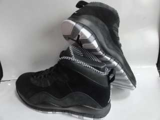Nike Air Jordan 10 Retro Black White Stealth Sneakers Mens Size 11.5