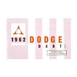 1962 DODGE DART Owners Manual User Guide