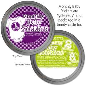 NEW Monthly Onesie Stickers + Baby Shower Gift Packaging (Just Born to