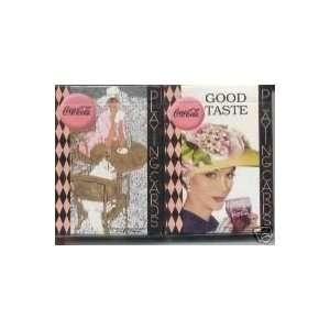 Coca Cola Coke Good Taste Ladies Playing Cards 2 Decks Toys & Games