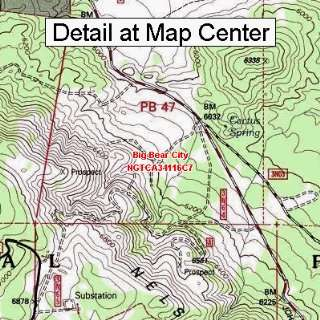 USGS Topographic Quadrangle Map   Big Bear City, California (Folded