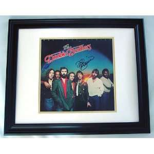 THE DOOBIE BROTHERS Autographed FRAMED Signed Album LP: