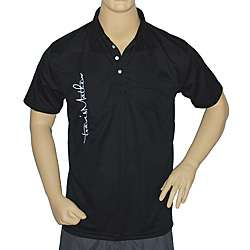Travis Mathew Mens Black Overscript Golf Shirt |