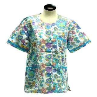 Scrubs Medical Nurse Dental Beautician White w Turquoise trim Style