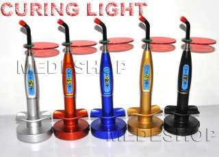 Dental 5W Wireless Cordless LED Curing Light Lamp 1500mw 5 colors