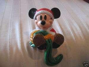 Vintage Christmas Walt Disneys Mickey Mouse Xmas Stocking Holder