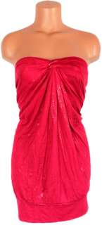 Women Sexy Red Strapless Halter Tube Top Torrid Shirt Dress Blouse