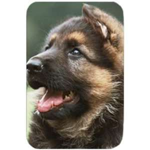 German Shepherd Puppies Tempered Large Cutting Board