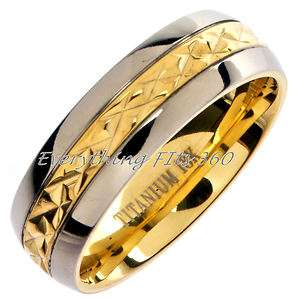 Plated *Grade 5* Titanium Wedding Ring Band Comfort Fit 7mm Size 15