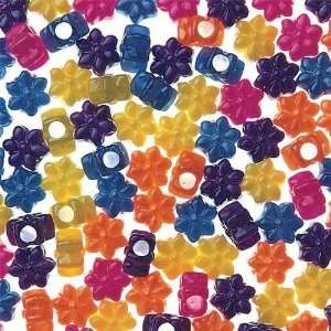 Flower Pony Beads 8 Oz.   Pearl (Bag of 600): Toys & Games