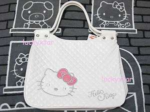 Hello Kitty white leather like tote bag handbag