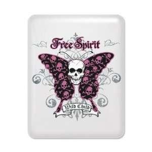 Case White Butterfly Skull Free Spirit Wild Child