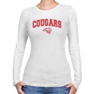 Houston Cougar Tee  Houston Cougars Ladies White Logo
