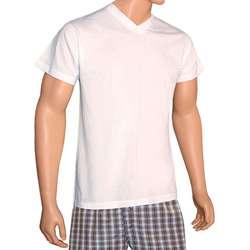 Knocker Mens V neck Cotton T shirts (Pack of 6)