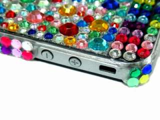 Bling Crystal Rainbow Back Case Cover for iPhone 4 4G 4S US