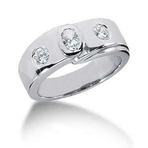 0.55 Ct Diamond Diamond Ring Engagement Oval cut 14k White
