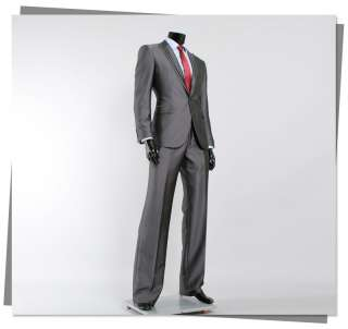 JEJE One Button Dark Gray Slim Fit Mens Suits US 38R