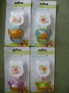 Disney Winnie Pooh Baby Dummy Soother with Clip 6m+