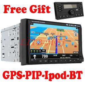 Cool GPS Navigation 7 LCD Car Stereo DVD CD Player Radio Ipod