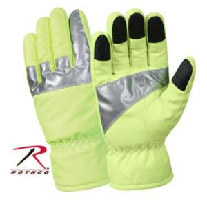 Safety Lime Green Traffic Crossing Guard Reflect Gloves