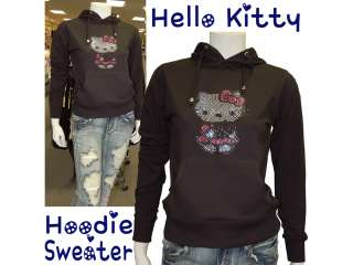 Holiday Gift Cute Hello Kitty Sweater w/Hoodie,Lot Studs,Elastic Waist