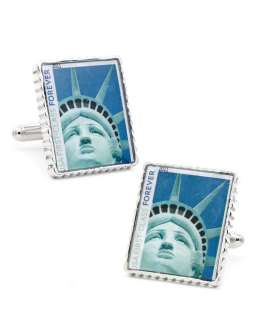 Penny Black 40 Statue of Liberty Stamp Cuff Links