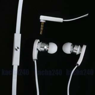 White In Ear Earbud Headphone Earphones Headset with Mic for  MP4