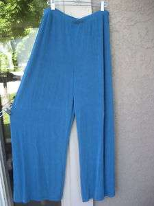 NWT $78 Chicos Travelers BLUE FOX WIDE LEG PANT 3 new