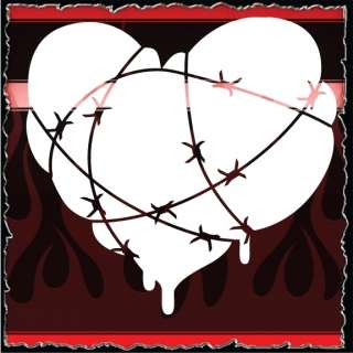 Heart 11 airbrush stencil template harley paint