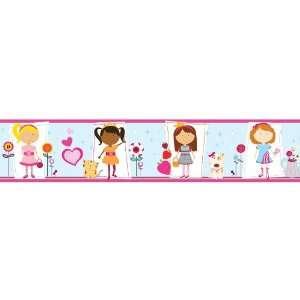 allen + roth Girly Girl Wallpaper Border LW1342737: Home