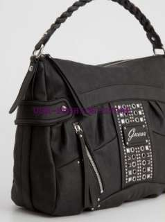 GUESS HANDBAG GIBRALTAR HOBO BAG PURSE FASHION BLACK G
