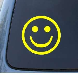 SMILE   Happy Face   Car, Truck, Notebook, Vinyl Decal Sticker #1030