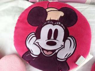Disneys Mod Mickey Minnie Mouse Crib Set NEW and 3 Wall Hangings