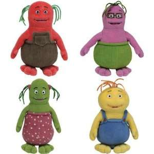 TY Beanie Babies   Set of 4 BOBLINS Cartoon Characters