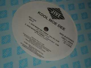 NM 12 LP KOOL MOE DEE God Made Me Funky x4 Mixes WLP