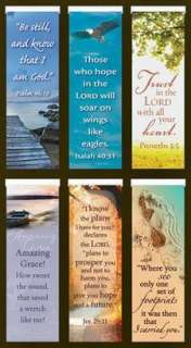 OF 6 DIFFERENT CHRISTIAN Sm Magnetic Bookmarks Inspirational