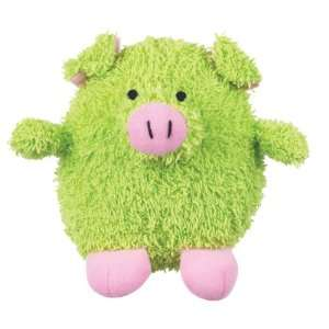 Grriggles Plush Pudgy Dog Toy, Pig, 4 1/2 Inch, Green: Pet