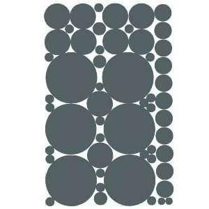 53 Grey Vinyl Polka Dots Circles Wall Decor Decals