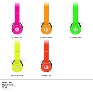 PINK NEON SKIN KIT for Monster Beats by Dr. Dre Solo Headphones