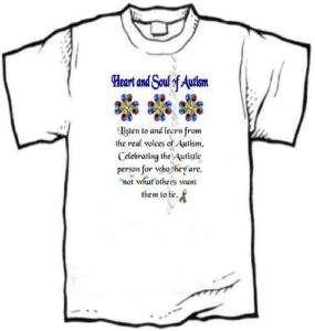 shirt   AUTISM Awareness   HEART and SOUL, Listen **