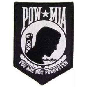 POW MIA Patch Black & White 4 1/4 Patio, Lawn & Garden