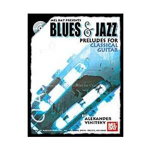 Blues and Jazz Preludes for Classical Guitar Book/CD Set