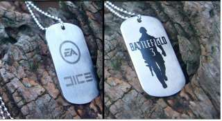 Battlefield 3 Game Dog Tag Pendant Necklace Free With Chain  Two Sides