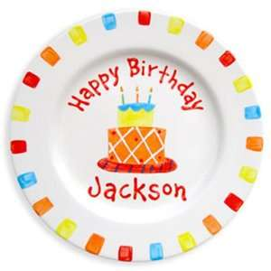 Hand Painted Plate, Birthday Cake Boy: Health & Personal Care