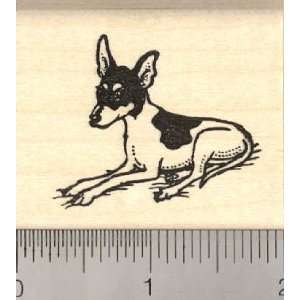 Toy Fox Terrier Dog Rubber Stamp Arts, Crafts & Sewing