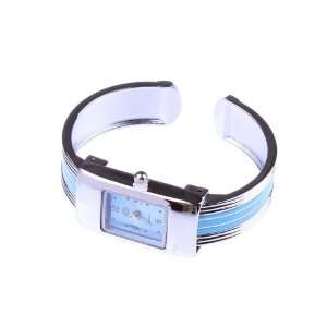 Blue Fashion Small Square Bracelet Wrist Watch For Ladies Girls Women