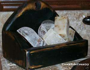 primitive Grungy Olde Look SOAP DISH   ANY COLOR