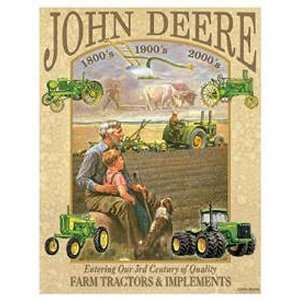 John Deere Tractor 3rd Century Metal Tin Sign Nostalgic