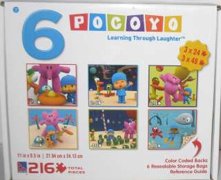 BOX of 6 ★ POCOYO ★ JIGSAW PUZZLES TODDLER FRIENDLY ~ EDUCATIONAL