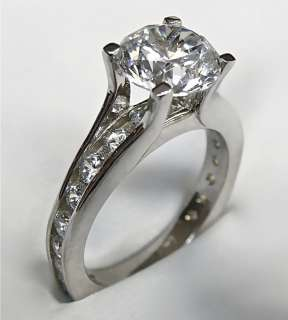 20Ct ROUND CUT ENGAGEMENT RING 14K SOLID GOLD